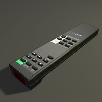 sony remote control 3d model