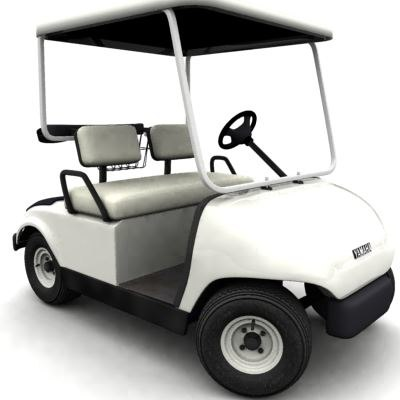 yamaha golf cart 3d model
