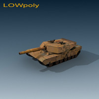 Abrams_01 LOWpoly_max_&_3ds_&_gmax