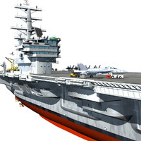 aircraft carrier ship 3d model
