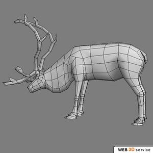 deer reindeer 3d model