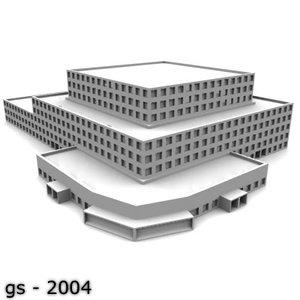 3d model university college building