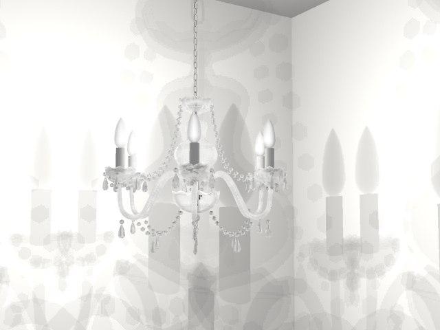cristal chandalier 3d max