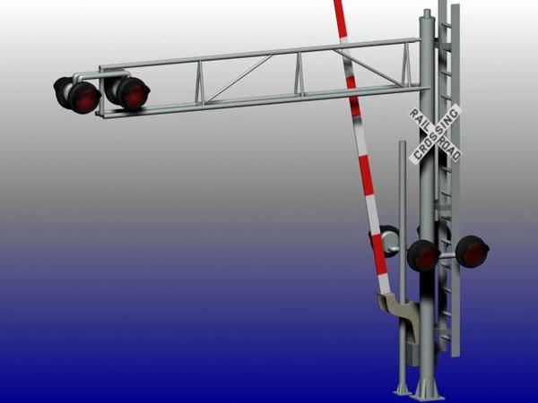 3d model rail crossing