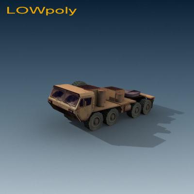 3d model transporter truck
