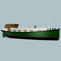 dutch barge 3d model