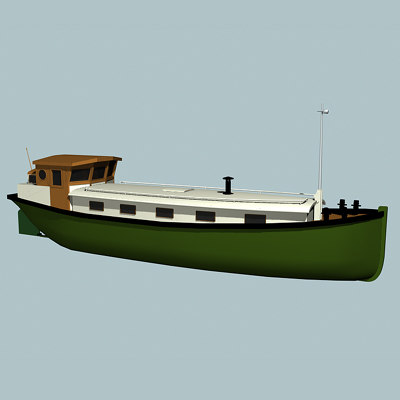 house boat 3d 3ds