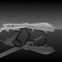 general rq-1 predator uav 3d model
