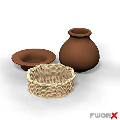 3d model kitchen ware