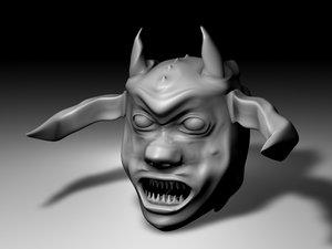 medium demon head obj