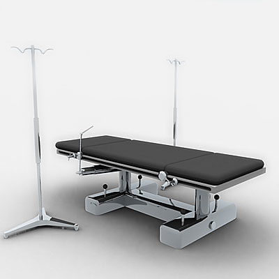 bed surgery 3d model