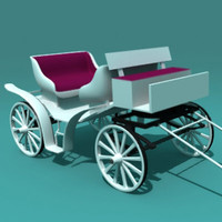 3d model carriage car
