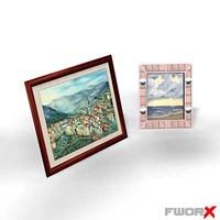 3d model frames picture