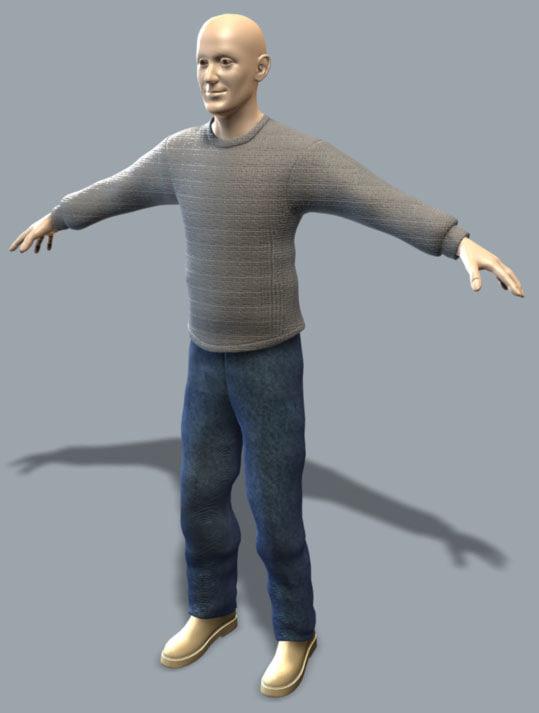 3d franck human character