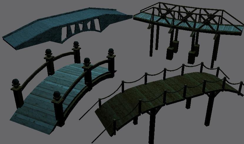 3d bridge pack model