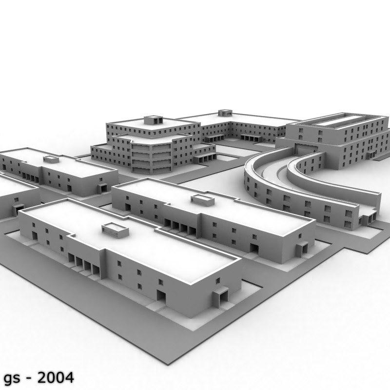 university complex 3d model