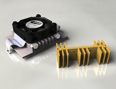 3ds max component types heatsink