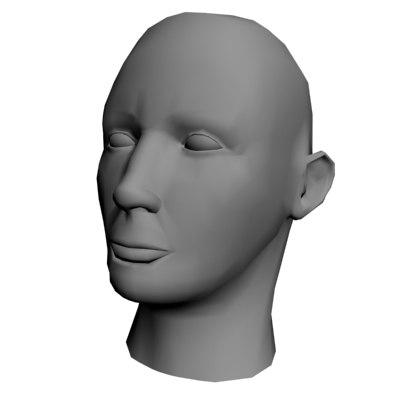 free head face 3d model