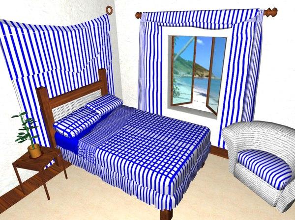 max bedroom scene bed