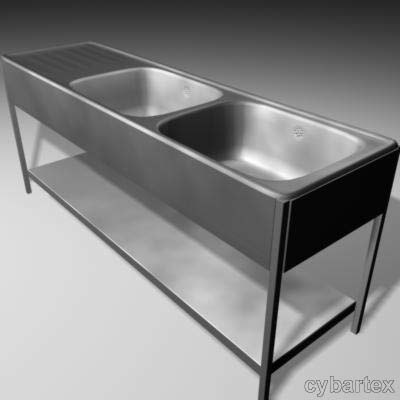professional stainless sink 3d model