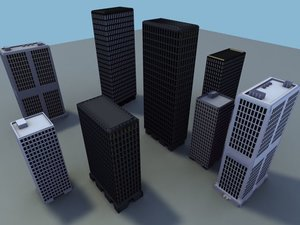 3d model sky scraper skyscraper