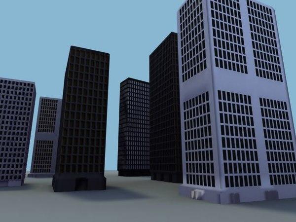 skyscraper sky scraper obj