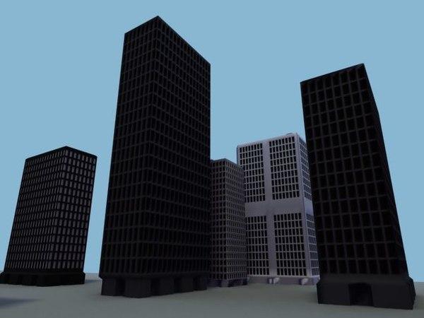 3d fbx sky scraper skyscraper
