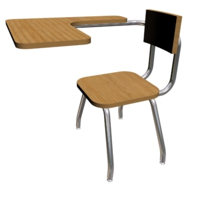 3ds desk chair schools