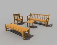 outdoor patio furniture teak 3ds
