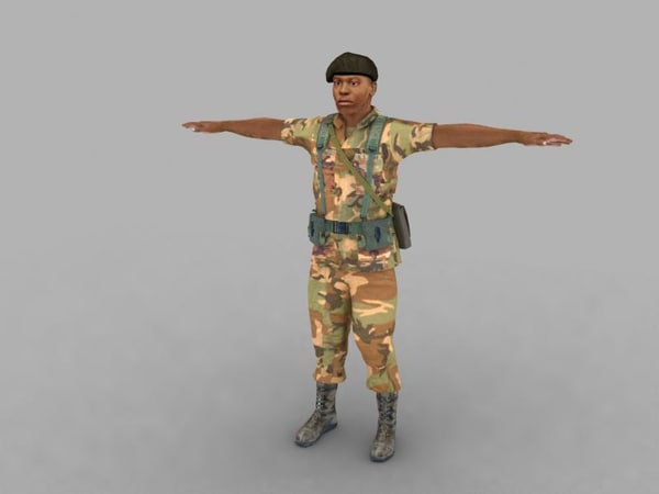 3d model of real soldier