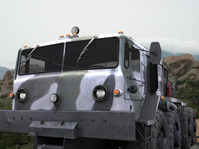 3d maz soviet military model