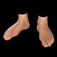 human foot 0 3d model