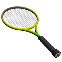3d tennis racket model