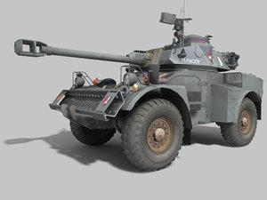 3d south africa eland armored car model
