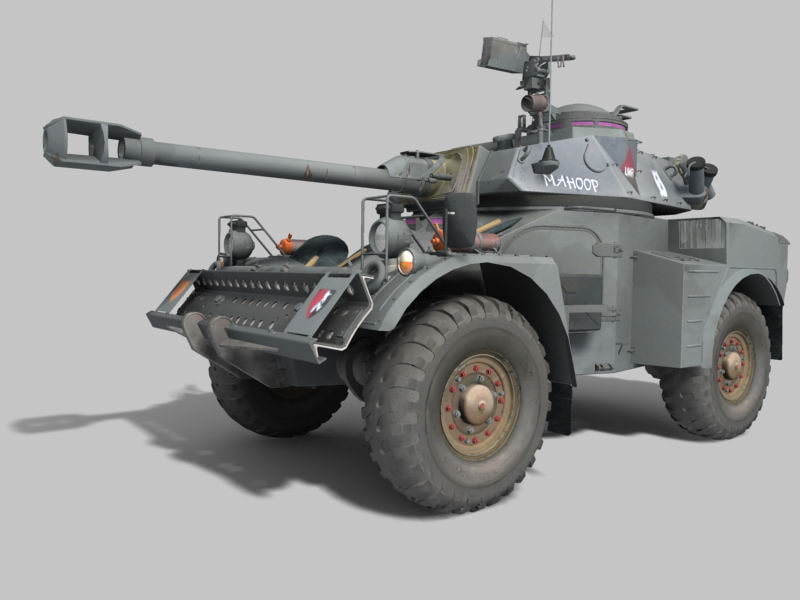 3d south africa eland armored car model