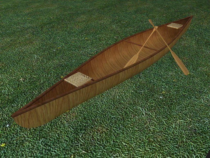 canoe 3d c4d