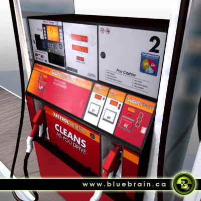 oil peak gas pump 3d model