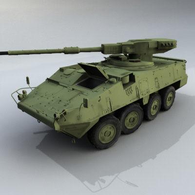 armored lav iii 3d model