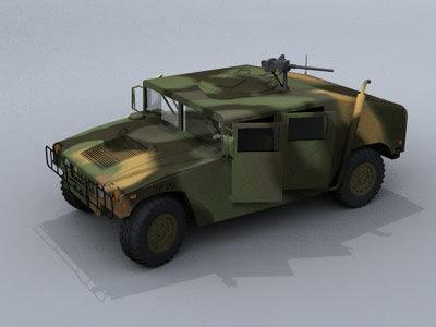military hummer 3d model