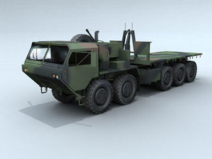 truck hemtt transport military 3d model