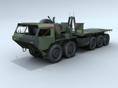 truck hemtt transport military 3d model
