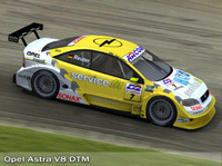 opel astra dtm touring car 3d model