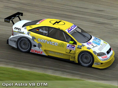 opel astra dtm touring car 3d model