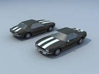 68 chevrolette camaro 3d model