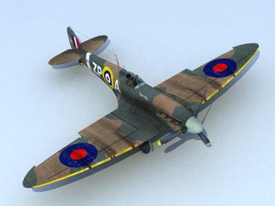 second fighter 3d model