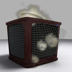 3d busted air conditioning model