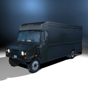 delivery truck ups 3d model