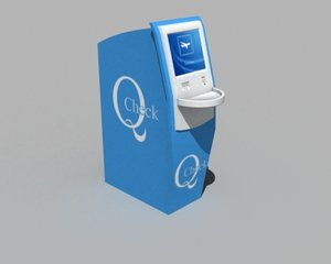 self check-in kiosk - 3d model