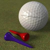 golf ball tee 3d model