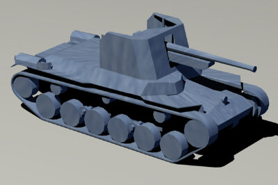 type 1 ho-ni self-propelled 3d model
